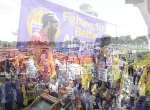 News video: Rep. Charles B. Rangel Speaks At Airport Workers Rally