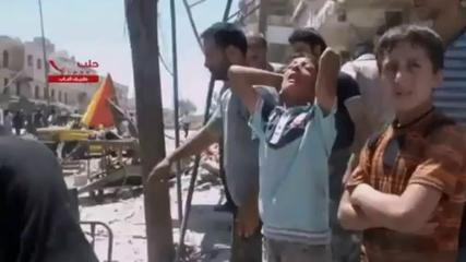 News video: Syria: Footage appears to show aftermath of barrel bombing